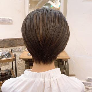 小顔ショート 大人可愛い ショート ショートヘア ヘアスタイルや髪型の写真・画像   Kaoru_ishiga / RadiaL HAIR DESIGN