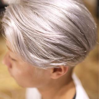 外国人風カラー ボーイッシュ メンズ ダブルカラー ヘアスタイルや髪型の写真・画像 ヘアスタイルや髪型の写真・画像