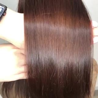 セミロング ツヤ髪 髪質改善 髪質改善カラー ヘアスタイルや髪型の写真・画像