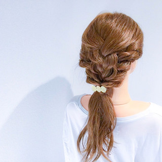 デート 上品 結婚式 簡単ヘアアレンジ ヘアスタイルや髪型の写真・画像