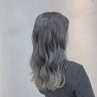 外国人風カラー セミロング 透明感カラー ハイライト ヘアスタイルや髪型の写真・画像