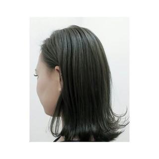 外国人風 ミディアム ストリート 暗髪 ヘアスタイルや髪型の写真・画像