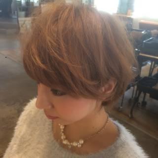 大人かわいい ショート コンサバ フェミニン ヘアスタイルや髪型の写真・画像