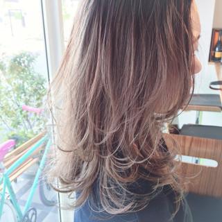 ストリート ハイライト グラデーションカラー 夏 ヘアスタイルや髪型の写真・画像