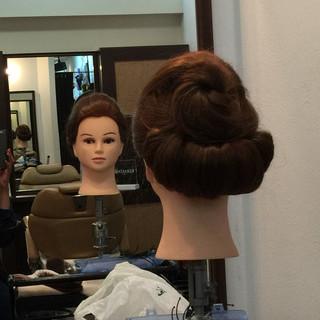 ハーフアップ ボブ ヘアアレンジ 大人女子 ヘアスタイルや髪型の写真・画像