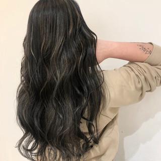 西海岸風 コントラストハイライト ハイライト ロング ヘアスタイルや髪型の写真・画像