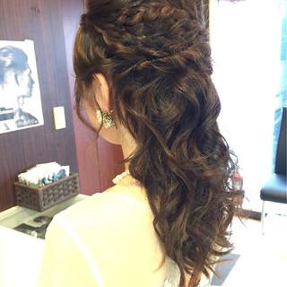 結婚式 デート ヘアアレンジ 編み込み ヘアスタイルや髪型の写真・画像 ヘアスタイルや髪型の写真・画像