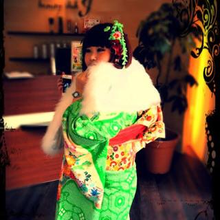 ヘアアレンジ 着物 セミロング 成人式 ヘアスタイルや髪型の写真・画像