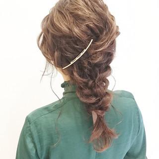 大人かわいい 抜け感 結婚式 パーティ ヘアスタイルや髪型の写真・画像