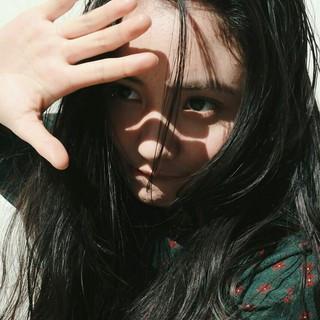黒髪 ナチュラル ロング 前髪あり ヘアスタイルや髪型の写真・画像