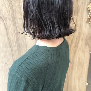 外ハネボブ ナチュラル ショートボブ ミニボブ ヘアスタイルや髪型の写真・画像