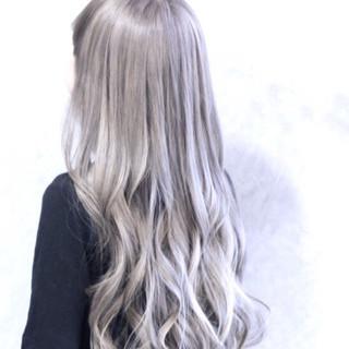 エレガント ハイトーン 上品 ロング ヘアスタイルや髪型の写真・画像