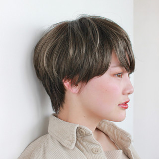 モテ髮シルエット モテ髪 ショート ショートボブ ヘアスタイルや髪型の写真・画像
