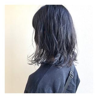 ボブ ゆるウェーブ パーマ モード ヘアスタイルや髪型の写真・画像