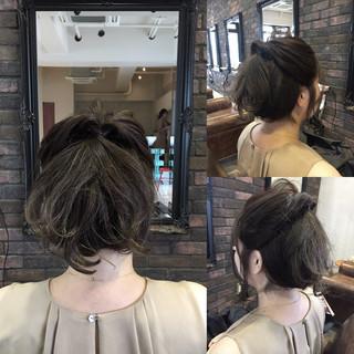 大人女子 ヘアアレンジ ショート 簡単ヘアアレンジ ヘアスタイルや髪型の写真・画像