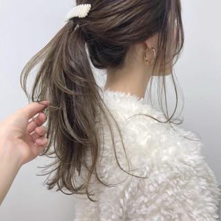 ベージュ ヘアカラー ヘアアレンジ 福岡市 ヘアスタイルや髪型の写真・画像