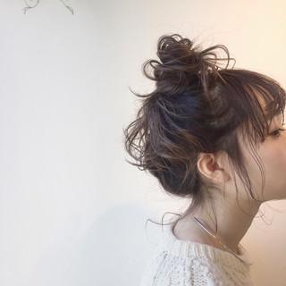 簡単ヘアアレンジ ミルクティー ナチュラル ヘアアレンジ ヘアスタイルや髪型の写真・画像