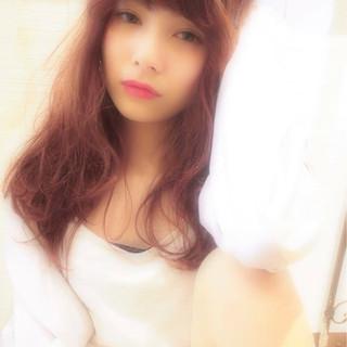 ピュア モテ髪 フェミニン ロング ヘアスタイルや髪型の写真・画像