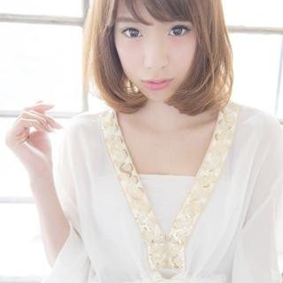 外国人風 ボブ グラデーションカラー フェミニン ヘアスタイルや髪型の写真・画像