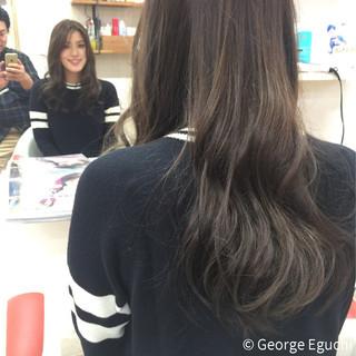 暗髪 ロング ストレート ナチュラル ヘアスタイルや髪型の写真・画像 ヘアスタイルや髪型の写真・画像