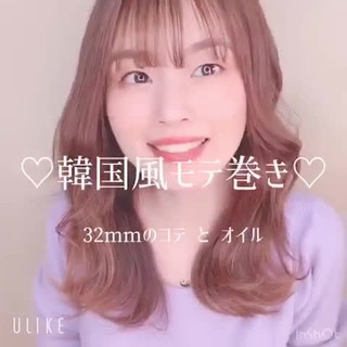 韓国ヘア 簡単ヘアアレンジ ガーリー セミロング ヘアスタイルや髪型の写真・画像