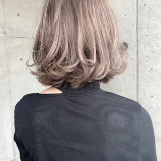ナチュラル ブラウンベージュ ボブ ブリーチ必須 ヘアスタイルや髪型の写真・画像