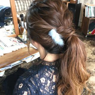 オルチャン ロング フェミニン ヘアアレンジ ヘアスタイルや髪型の写真・画像
