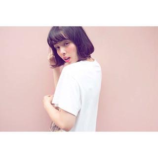 ガーリー パーマ ピュア ボブ ヘアスタイルや髪型の写真・画像