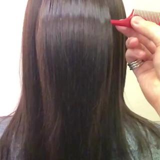 ナチュラル 美髪 カシスカラー サラサラ ヘアスタイルや髪型の写真・画像