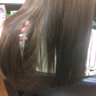 モテ髪 暗髪 エクステ セミロング ヘアスタイルや髪型の写真・画像