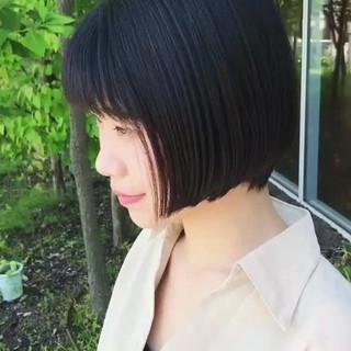 大人女子 色気 グラデーションカラー ショートボブ ヘアスタイルや髪型の写真・画像