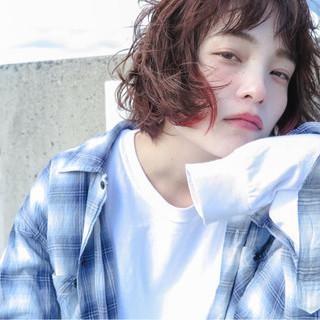 ショートバング 外国人風 ハイライト 透明感 ヘアスタイルや髪型の写真・画像