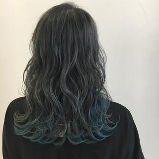 ガーリー 透明感 外国人風 セミロング ヘアスタイルや髪型の写真・画像 ヘアスタイルや髪型の写真・画像