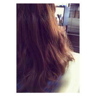 グラデーションカラー アッシュ セミロング ハイライト ヘアスタイルや髪型の写真・画像