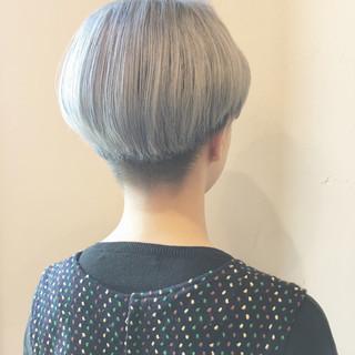 グラデーションカラー 外国人風 アッシュ イルミナカラー ヘアスタイルや髪型の写真・画像
