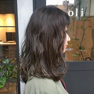 デート ブルージュ ナチュラル 暗髪 ヘアスタイルや髪型の写真・画像