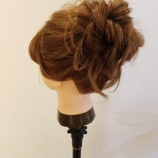 簡単ヘアアレンジ ヘアアレンジ ロング 結婚式ヘアアレンジ ヘアスタイルや髪型の写真・画像