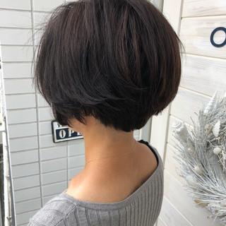似合わせ デジタルパーマ 小顔 ショートボブ ヘアスタイルや髪型の写真・画像 ヘアスタイルや髪型の写真・画像