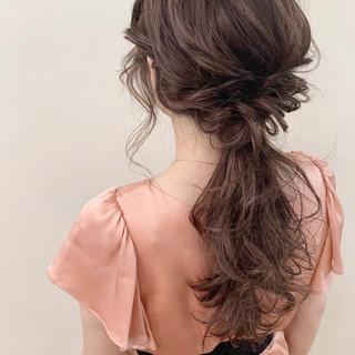 ロング ナチュラル 簡単ヘアアレンジ ゆるふわ ヘアスタイルや髪型の写真・画像