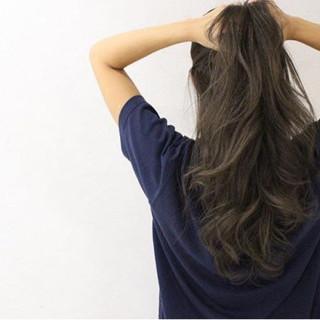 外国人風 ナチュラル ロング グラデーションカラー ヘアスタイルや髪型の写真・画像