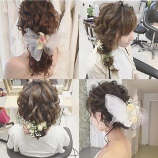 大人かわいい ゆるふわ ヘアアレンジ 結婚式 ヘアスタイルや髪型の写真・画像