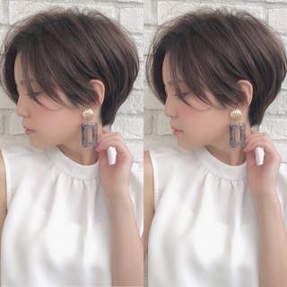 ショート ナチュラル ショートボブ ベリーショート ヘアスタイルや髪型の写真・画像