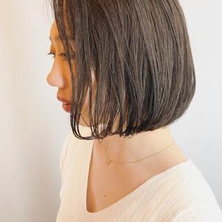 モテ髪 透明感カラー 大人ショート ボブ ヘアスタイルや髪型の写真・画像