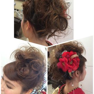 ゆるふわ 大人かわいい 簡単ヘアアレンジ ミディアム ヘアスタイルや髪型の写真・画像