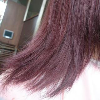 ピンク 春 モード ミディアム ヘアスタイルや髪型の写真・画像