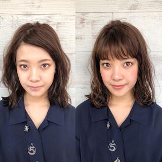 柔らかいストレートとミディアムボブ講師 内田航さんのヘアスナップ