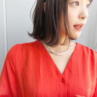 シースルーバング パーマ ナチュラル 色気 ヘアスタイルや髪型の写真・画像