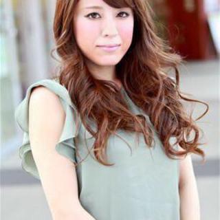フェミニン 大人かわいい 前髪あり ロング ヘアスタイルや髪型の写真・画像