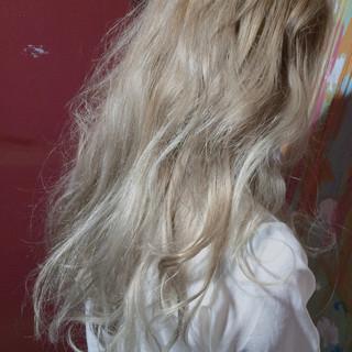 渋谷系 ミルクティーベージュ ロング モード ヘアスタイルや髪型の写真・画像