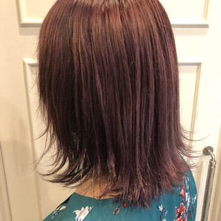 フェミニン イルミナカラー 外国人風カラー ミディアム ヘアスタイルや髪型の写真・画像